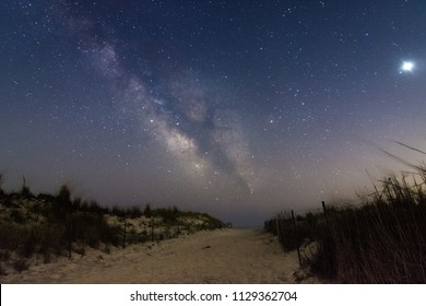 The milky Way rising in the sky. Fire Island - Long Island New York