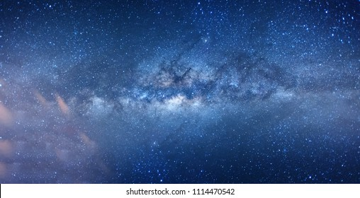 Milky way in Sabah Borneo, Long exposure and high ISO photograph with visible grain and noise, blur and soft focus.