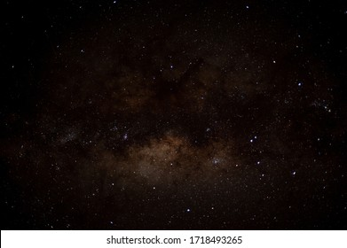 Milky Way in Sajama National Park, galactic core. Bolivia, Altiplano. Sajama NP at night with stars and planets of milky way.