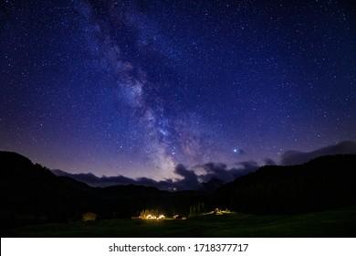 Milky way from Saltria, Alpe di Siusi