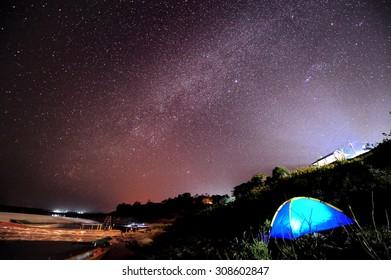 Milky Way at Sam Pan Bok (Grand Canyon of Thailand), Ubon Ratchathani, Thailand