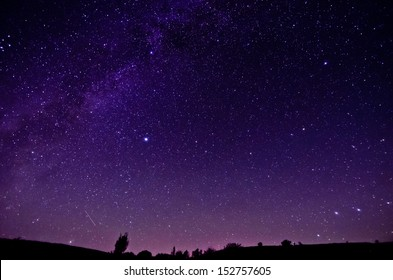 Milky Way and Sars night sky background