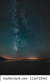 The Milky Way as seen from the bridge crossing the Great Sacandaga Lake in the southern Adirondacks