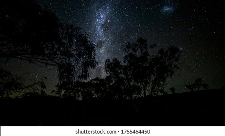 The Milky Way seen from the mountains of the Grampians National Park in  Victoria, Australia at a clear and starry night in summer.