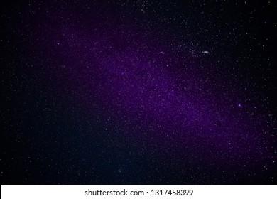 Milky Way, sky full of stars at clear night
