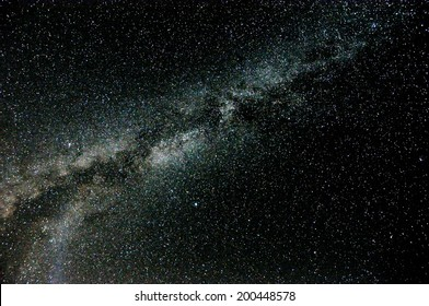 The Milky Way and some stars in the night of San Lorenzo in north Italy