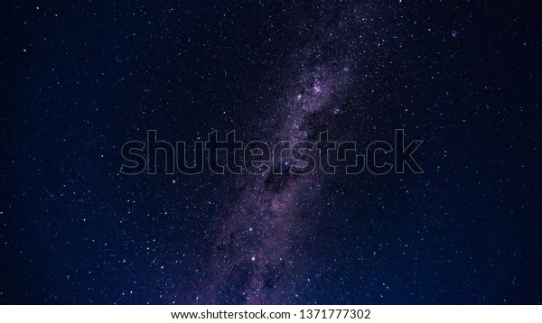 Milky Way Star Trails Hills Mountains Stock Photo (Edit Now) 1371777302