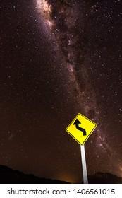 Milky Way and Starry Night Sky In the Famous Atacama Desert, near San Pedro de Atacama Town, Chile.