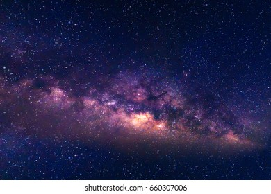 Milky Way and starry night sky
