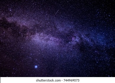 The Milky Way and the stars in the beautiful night sky