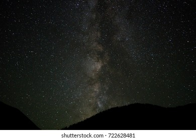 milky way and stars at night, kolsai lake, saty, kazakhstan
