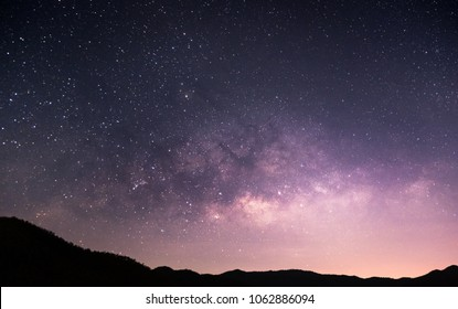 The Milky Way and the stars in the night sky are very beautiful.