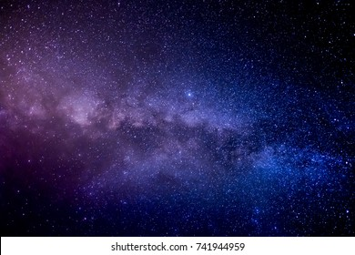 Milky Way and Stars in the Night Sky