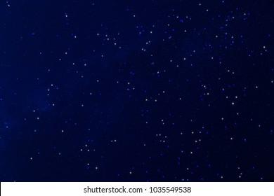 Milky way stars on a dark sky. My astronomy work.