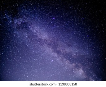 The Milky Way of the summer night sky