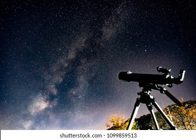 Milky way with the telescope