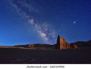 The Milky Way and Temple of the Sun, Cathedral Valley, Capitol Reef National Park