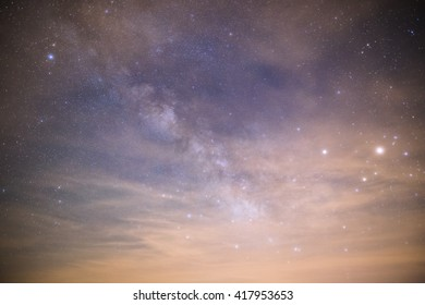 milky way through cloudy sky