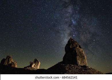 Milky Way at Trona Pinnacles in the California desert