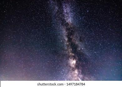 Milky Way view. Beautiful night sky with stars.