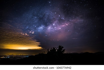 Milky way as viewed from Genting Highland Pahang Malaysia on a almost cloudless cold night