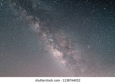 """Milky Way in the zenith on an August night in the """"Teide National Park"""" on tenerife. The sky is full of stars and fading stars that fall from the comet """"Swift-Tuttle"""" fading stars. Star rain on 12.8."""