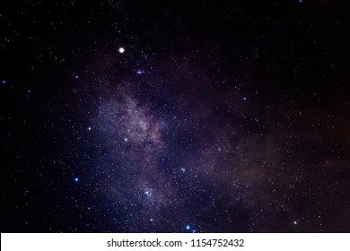 Milky way,galaxy,cosmos on dark sky