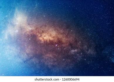 Milky way,galaxy,cosmos on dark sky