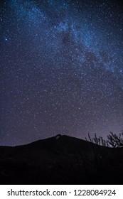Milkyway at night at teide, tenerife