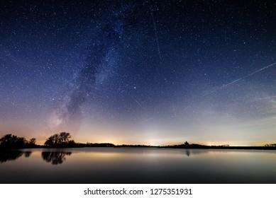 Milkyway; Nightsky; Night;Lake; Reflection