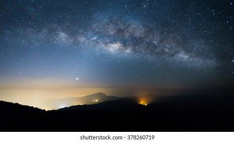 Milkyway on a night sky