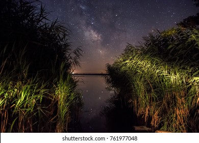 Milkyway from reeds. Kis-Balaton hungary.