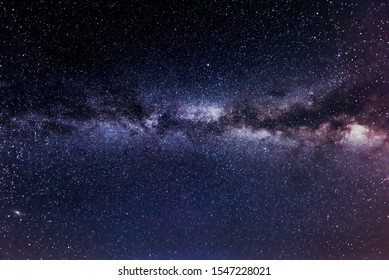 Milkyway view with stars and galaxies at night