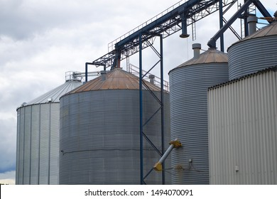 mill container cereal grain agriculture metal silo
