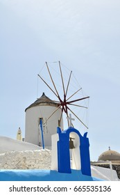 Mill in Oia on the island of Santorini