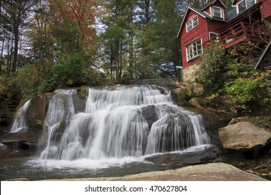 Mill Shoals Falls near Rosman, North Carolina