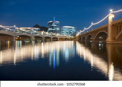 Mill Street Bridge over Tempe Town Lake in Tempe, Arizona