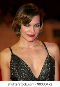 Milla Jovovich arriving for the UK Premiere of The Three Musketeers, at Westfield, London. 04/10/2011 Picture by: Alexandra Glen / Featureflash