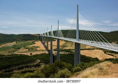 Millau Bridge Viaduk Summer France