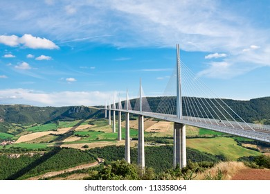 Millau Viaduct, Aveyron Departement, France