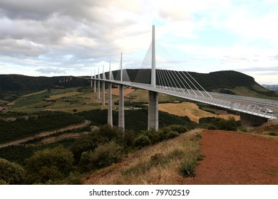 The Millau Viaduct, Aveyron Departement, France