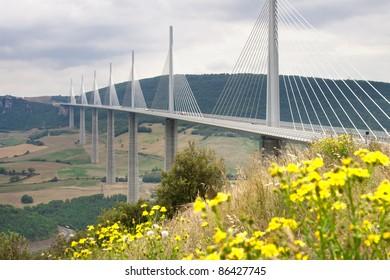 Millau Viaduct, Aveyron Departement, France