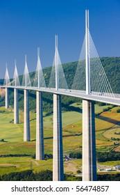Millau Viaduct, Aveyron Department, France