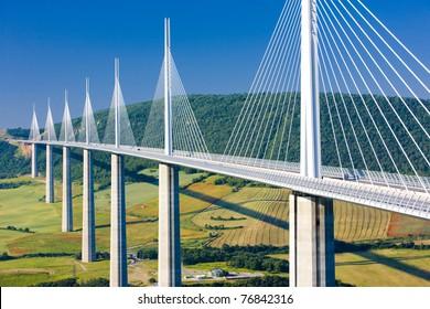 Millau Viaduct, Aveyron D?partement, France