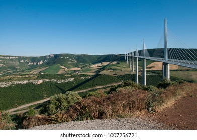 Millau viaduct, image taken in southern France on the 26th of June 2015