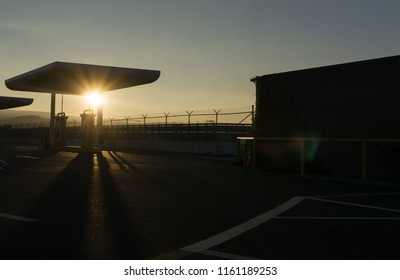 Millbrae,CA August 17 2018:Trillium CNG Gas Station close by SFO International Airport