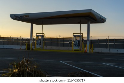 Millbrae,CA August 22 2018:Trillium CNG Gas alternative fuel station