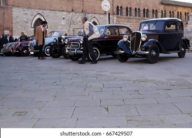 Mille miglia classic car, May 15, 2017, Siena