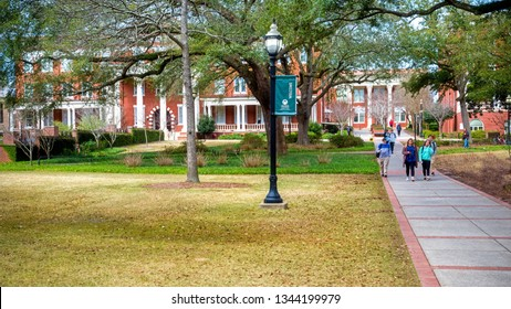 MILLEDGEVILLE, GA - March 4: Campus scene at Georgia College and State University in Milledgeville, GA, on March 4, 2019. The college is one of Georgia's oldest public schools, chartered in 1889.