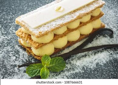 Mille-feuille, French Vanilla Dessert